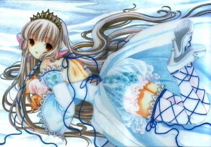 Chobits on Chii De Chobits En Un Bello Traje Azul
